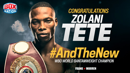 Zolani Tete WBO World Bantamweight Champion