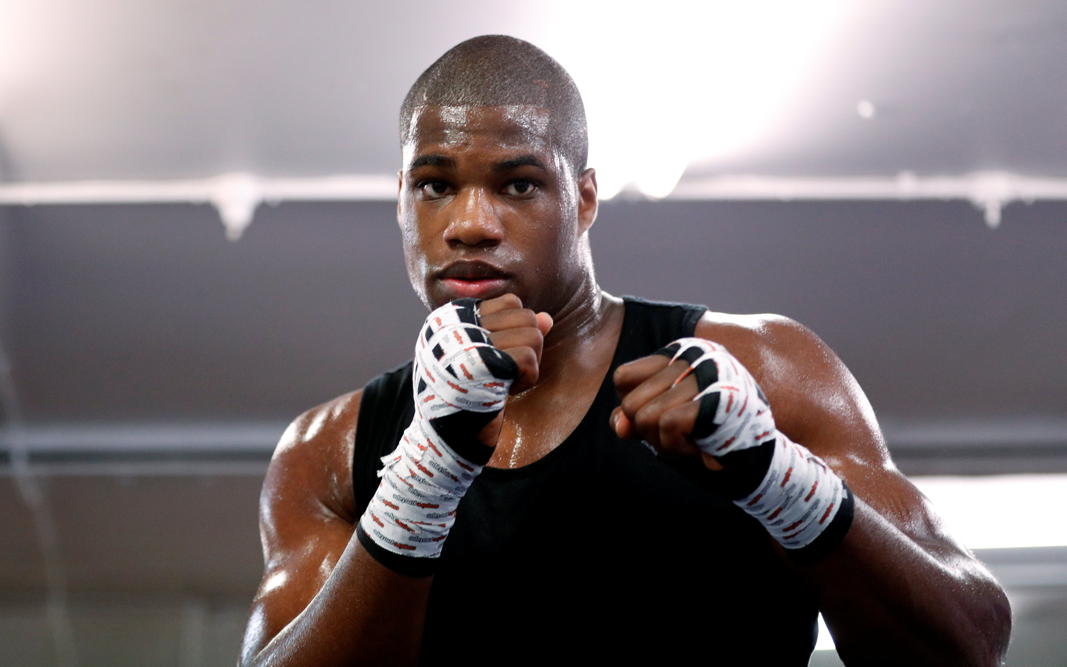 Boxing - Daniel Dubois Media Work-out - Peacock Gymnasium, London, Britain - September 13, 2017   Daniel Dubois during his work out   Action Images via Reuters/Andrew Boyers
