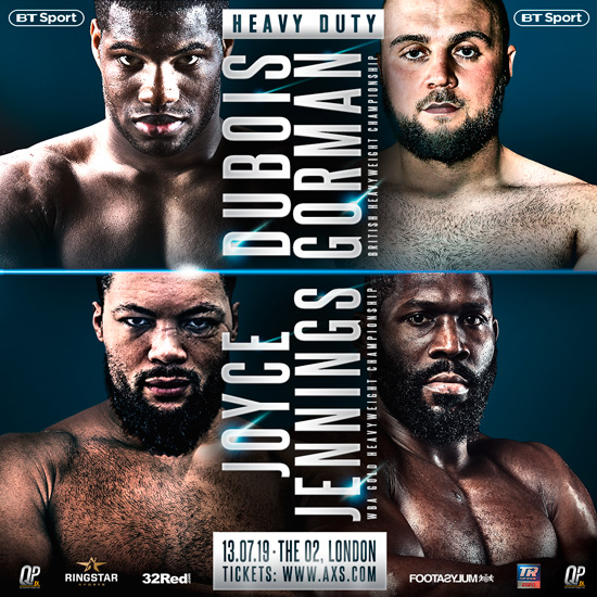 Dubois vs Gorman + Joyce vs Jennings