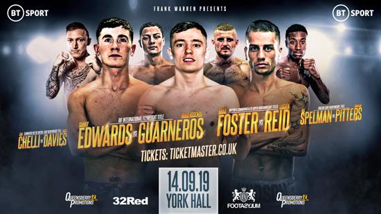 York Hall Boxing September 14th
